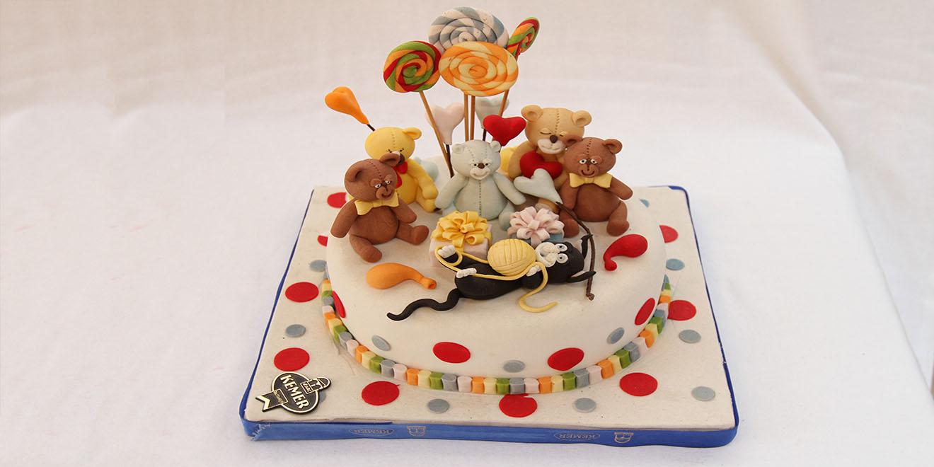 ayıcıklı pasta