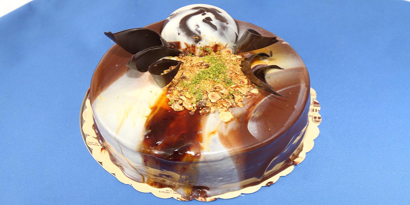 krokanlı çikolatalı pasta