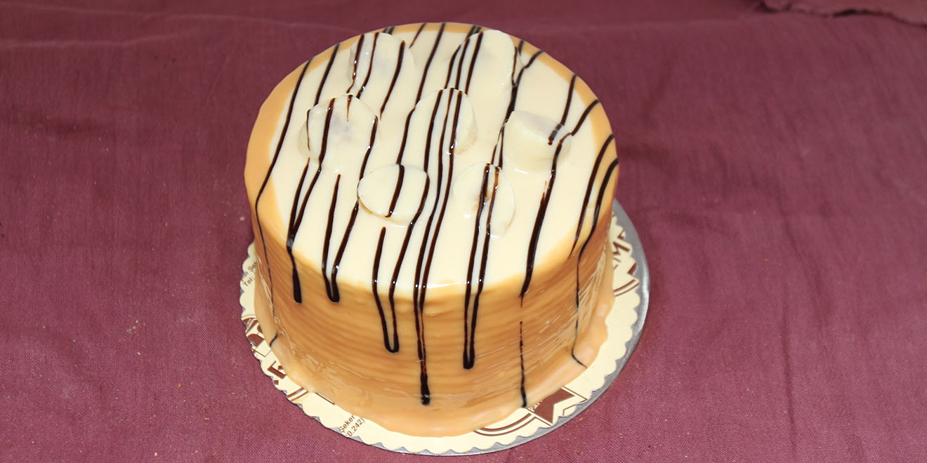 muzlu beyaz çikolatalı pasta